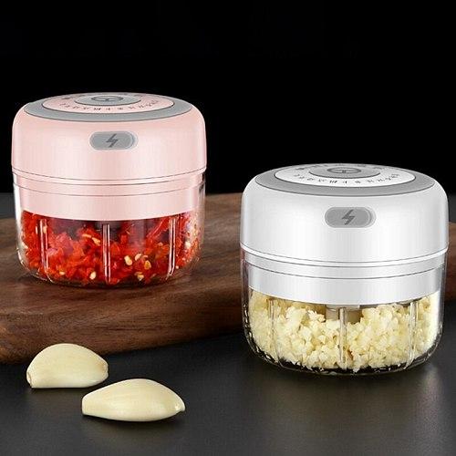 Wireless Electric Garlic Puller Mashed Meat Mincer Vegetable Pepper Meat Grinder Food Chopper Kitchen Tool