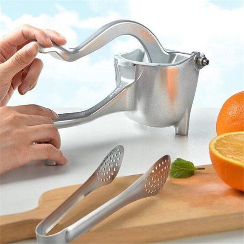 Aluminum Alloy Manual Juicer Squeezer Hand Pressure Pomegranate Orange Lemon Sugar Cane Juice Kitchen Fruit Tool Machine