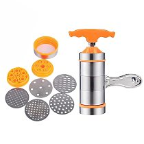 Household Manual Stainless Steel Pasta Maker Noodles Presser Making Machine with 7 Molds Noodle Maker