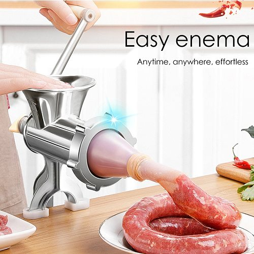 Manual Meat Grinder Hand Operated Beef Noodle Pasta Mincer Sausages Maker Gadgets Aluminum Grinding Machine Kitchen Tools