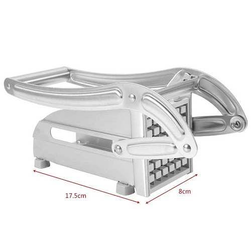 Stainless Steel Manual French Fry Cutter Potato Vegetable Slicer Chopper Dicer 2 Blades Household Tool Parts