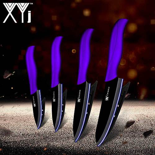 XYj Kitchen Knives House Wife Cooking Set Zirconia Ceramic Knife 3  4  5  6  Pattern Blade Paring Fruit Vege Cooking Knife