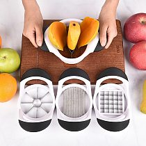 8-Blade Apple Slicer Corer Cutter Wedger Divider Stainless Steel Blades Fruit Cutter for Apples Mango Tomatoes Potatoes Cutting