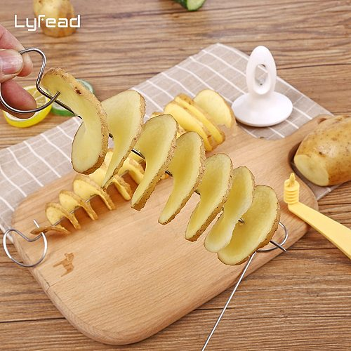 Lyfead Potato Spiral Cutter Cucumber Slicer Kitchen Accessories Vegetable Spiralizer Spiral Potato Cutter Slicer Kitchen Gadgets