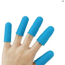 JCD 5pcs/set Silicone Finger Protector Sleeve Cover Anti-cut Heat Resistant Anti-slip Fingers Cover For Cooking Kitchen Tools