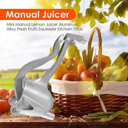 Mini Silver Metal Manual Juicer Fruit Squeezer Juice Squeezer Lemon Orange Juicer Press Household Multifunctional Juicer