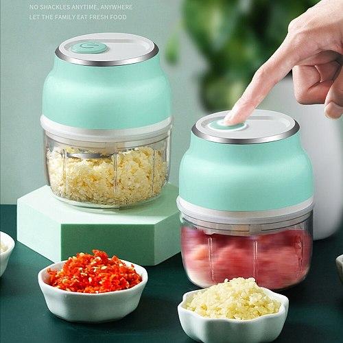 Electric Garlic Masher Meat Grinder Food Chopper Mincer Mixer Blender Kitchen Supplies Multifunction Vegetable Garlic Grinder