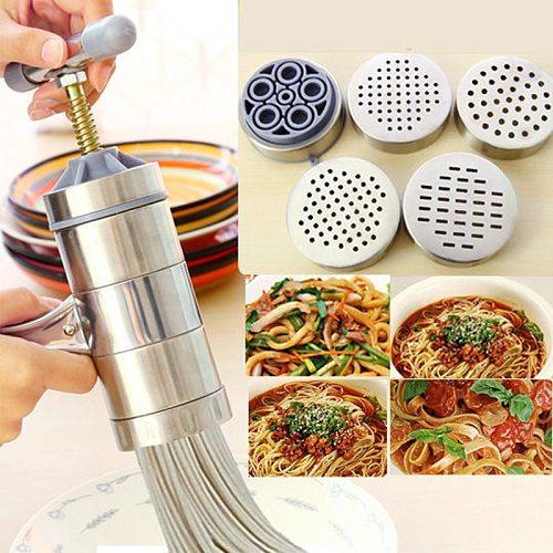 Kitchen Noodle Maker Stainless Steel Kitchen Manual Noodle Press Household Hollow Noodle Manual Noodle Maker Gadgets Tools