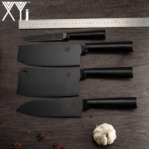 XYj Stainless Steel Knife Set Kitchen Knife Set Cleaver Knife Tools Chopper Nakiri Fruit Vegetable Chopping Japanese Knife Sets