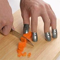 VOGVIGO 4pcs Set Stainless Steel Safe Slice Finger Protector Finger Guard Professional Cooking Tools High Quality