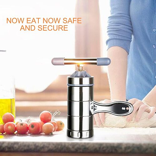 New Manual Noodle Maker Press Pasta Machine Crank Cutter Fruits Juicer Cookware With 5 Pressing Moulds Spaghetti Kitchenware