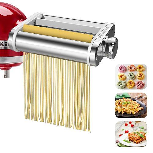 Pasta Roller Cutter Parts Home Manual Pasta Machine Parts Hand Pressure Noodle Maker DIY Noodles for Kitchen Aid Stand Mixer