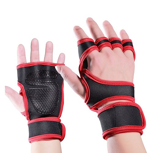 Cross Training Fitness Gloves Weightlifting Half Finger Gloves Sports Fitness Body Building Gym Gloves Grips Hand Palm Protector
