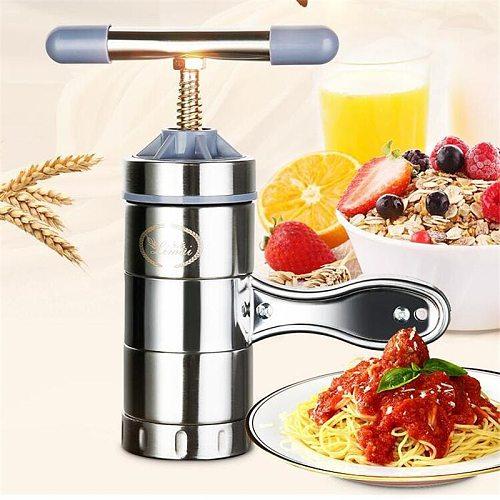 Stainless Steel Manual Noodle Maker Pastas Making Machine Spaetzle Maker Fruits Juicer Including Different Molds