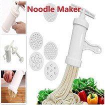 Manual Noodle Maker Press Pasta Maker Machine Crank Cutter Cookware With 5 Pressing Molds Making Spaghetti Kitchen Cooking Tools