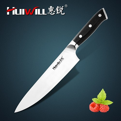 New! Huiwill High quality Japanese AUS-8 Stainless Steel Kitchen Chef knife Slicing Santoku Kitchen Knife Set in Free Shipping