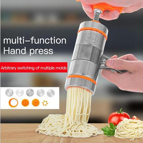Stainless Steel Pasta Noodle Maker Fruit Juicer Spaghetti Manual Press Machine Manual Noodle Makers Kitchen Cooking Tools