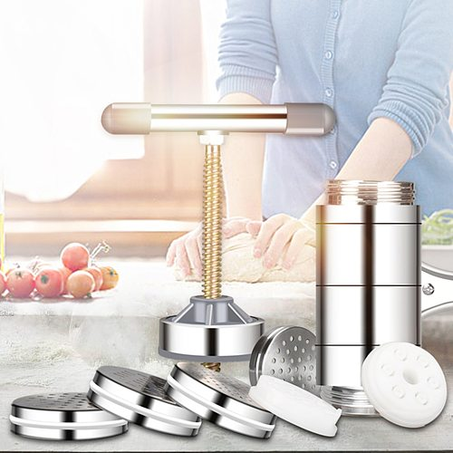 Noodle Maker Household Manual Stainless Steel Pressing Machine Kitchen Tool Hollow Noodle Machine Handmade Noodle Machine