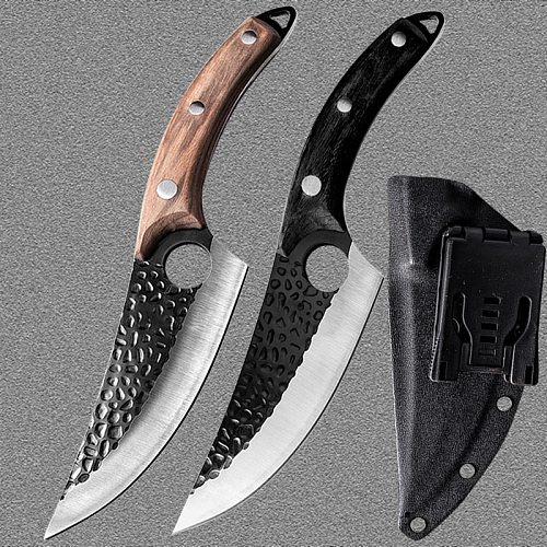 Stainless Steel Kitchen Boning Knife Handmade Fishing Knife Meat Cleaver Outdoor Cooking Cutter Butcher knife Cutter