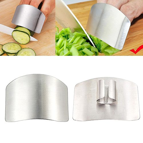 1pcs Kitchen Hand guard Stainless Steel Finger Protector Cutting Guard Safe Slice Knife Tool