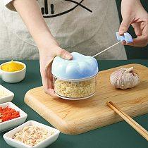 Household Garlic Crusher Grinder Manual Garlic Grinder Kitchen Labor Saving Garlic Meat Mincing Tool Ginger Peeling Grater Box
