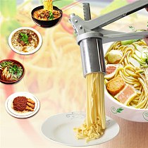 Stainless Steel Manual Noodle Maker Press Pasta Machine Crank Cutter Fruits Juicer Cookware With 8 Pressing Noodle Moulds Making