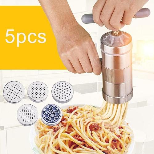 Multifunction Manual Stainless Steel Noodle Maker Press Pasta Machine Crank Cutter Fruits Juicer Cookware Spaghetti Kitchen Tool