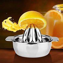 Stainless Steel Lemon Orange Squeezer Juicer Hand Manual Press Kitchen Home Appliances Lemon Orange Tangerine Juice Squeezer #30