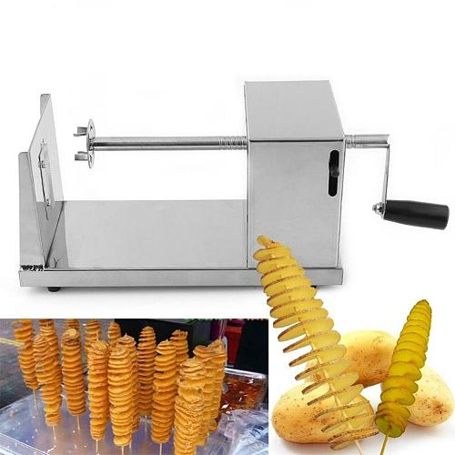 Manual Stainless Steel Twisted Potato Slicer Fry Potato Vegetable Spiral shaped cutter Kitchen Accessories Chopper Potato Chip