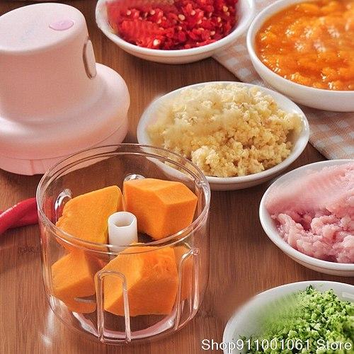 Wireless Meat Grinder Electric Multifunctional Vegetable Supplementary Food Mixing Garlic Mash Machine