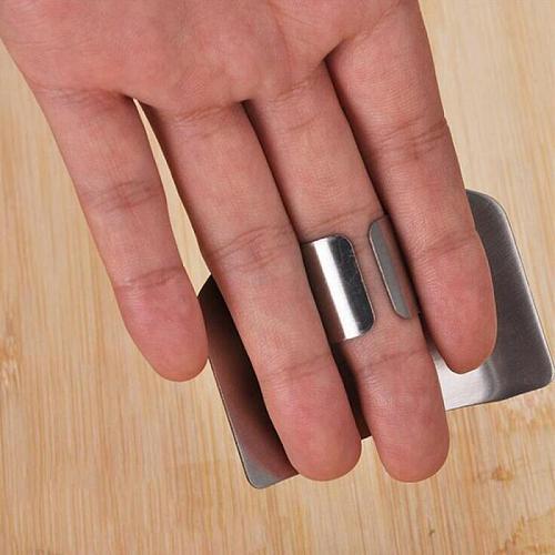 Stainless Steel Kitchen Tool Hand Finger Protector Knife Cut Slice Safe Guard Kitchen Cocina Kitchen Accessories Garden Stickers