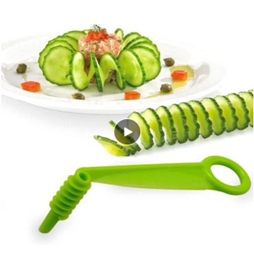 1Pc Manual Rotary Slicer Spiral Cutter Slicer Kitchen Accessories Potato Carrot Vegetables Random Color Fruit Vegetables Tools