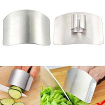 Steel Finger Guard Protect Finger Hand Cut Tool Protector Finger Protection Kitchen Accessories Cut Knife Gadgets T4D5