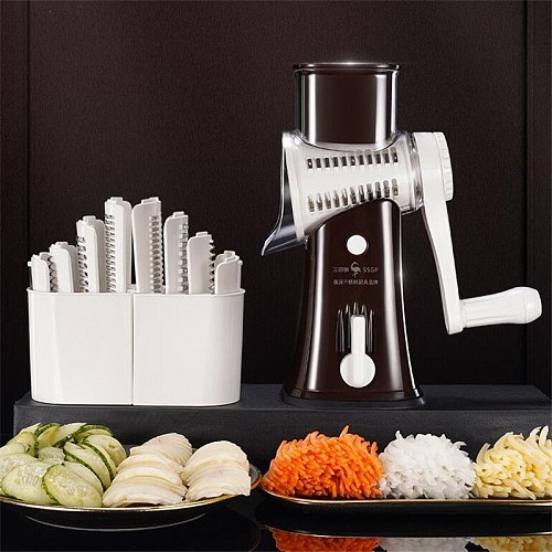 Multifunctional Manual Vegetable Cutter Shredders Slicers Kitchen Mandoline Spiral Slicer Machine Potato Cheese Kitchen Gadgets