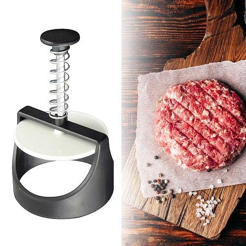 Home Kitchen Round Shape Hamburger Press Stainless Steel Hamburger Patty Maker Press Burger Meat Maker Mold Kitchen Gadgets