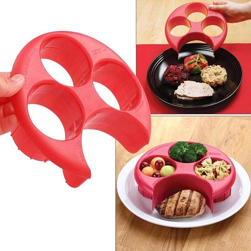 1pc Meal Measure Portion Control Cooking Tools Lose Weight Keep Fit Tool Kitchen Diet Food Dish Divider Food Plate Dinnerware