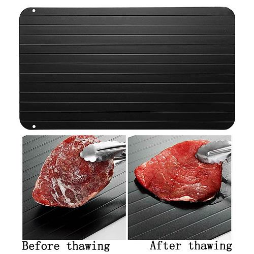 1 pc Fast Defrosting Tray Thaw Food Meat Fruit Quick Defrosting Plate Board Tray Kitchen Gadget Tools Accessories Free shipping