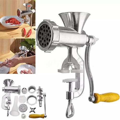 Manual Meat Grinder & Sausage Noodle Dishes Handheld Making Gadgets Stainless Steel Mincer Pasta Maker Home Kitchen Cooking Tool