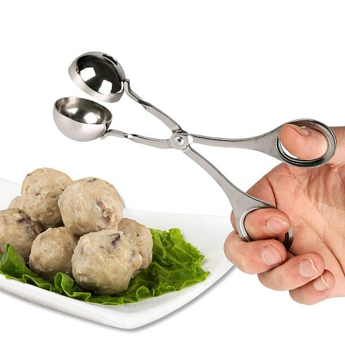 Large size optional stainless steel meatball clip DIY rice fish ball meatball machine kitchen accessories creative useful mold