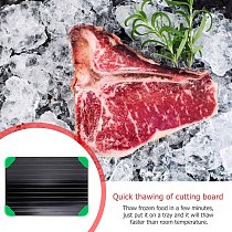 Kitchen Quick Thawing Cutting Board Thaw Frozen Food Tray Defrosting Board Fast Defrosting Meat  For Frozen Food Tray Board Pad