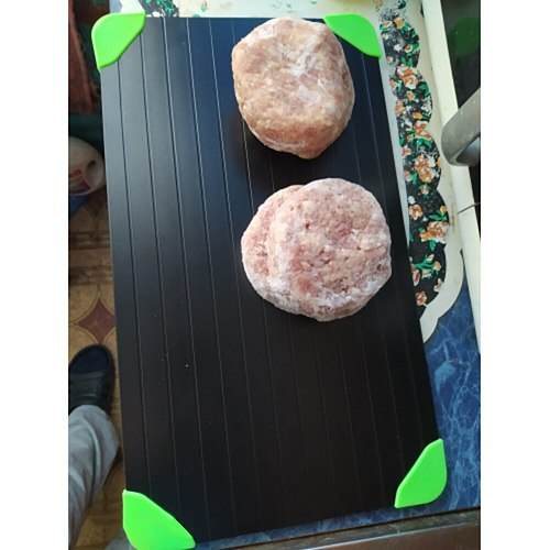 Quick Thawing Cutting Board Eco-friendly Quick Defrosting Aluminum Plate Easy Clean Thaw Food Tray Defrosting Board