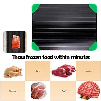 Quick Thawing Cutting Board Practical Quick Defrosting Plate Easy Clean Thaw Frozen Food Tray Defrosting Board Kitchen Tools