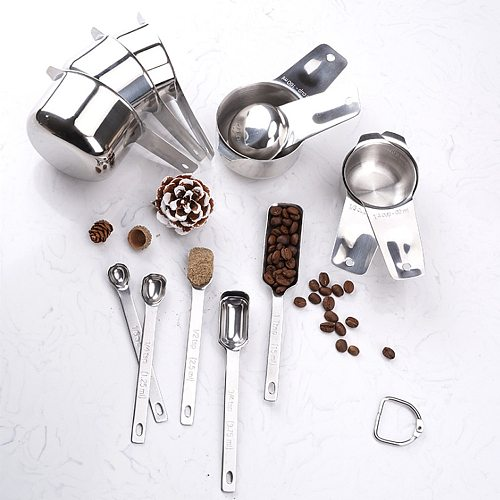 13-Piece Set Baking Accessories Kitchen Measuring Cups And Spoons Utensils Sets Cup Measurement For Cake Making Cooking