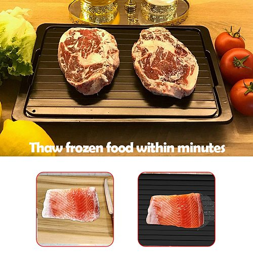 2pcs Fast Defrosting Tray Thaw  Food Meat Fruit Quick Defrosting Plate Board Defrost Kitchen Gadget Tool