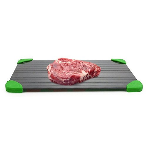 Easy Clean Defrosting Trays Fast Thawing Aluminum Tray HouseholdEco-friendly Cutting Board for Unfrozen Food Meat