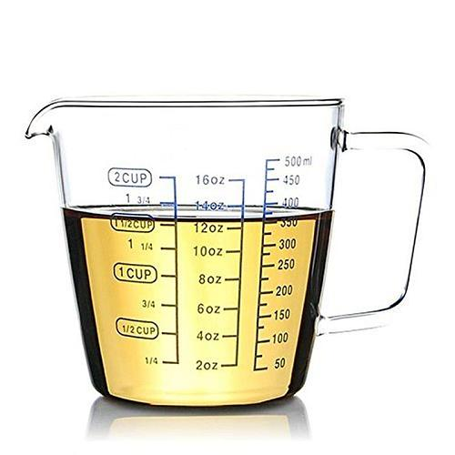 1Pc Transparent Thicken Heat-Resistant Borosilicate Glass Measuring Cup With Scale Children's Milk Cup Microwave Measuring Cup