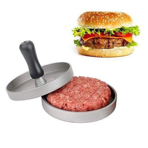 11 cm Round Shape Hamburger Press Burger Press Hamburger Meat Beef Grill Burger Press Patty Maker Mold Kitchen Meat Tools