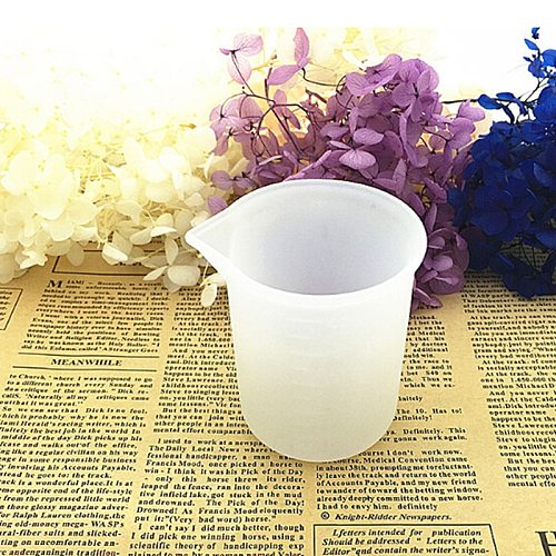100ml White Silicone Graduated Measuring Cup For Baking Beaker Liquid Measure Jug Cup Container