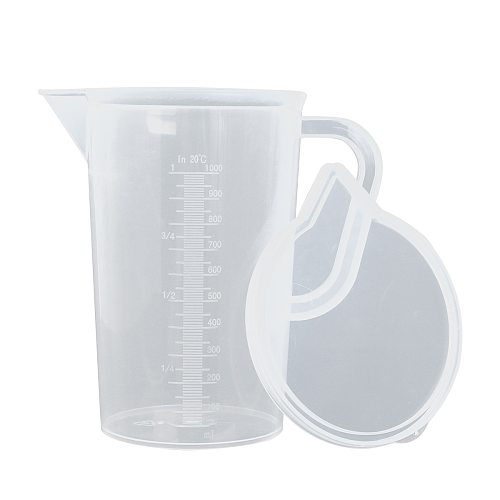 Clear Plastic Graduated Pour Measuring Jug Cup Water Pitcher Jug with/without Lid Cold Water Tea Juice Beer Measure Container