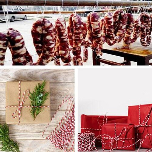1Roll 75m Butcher's Cotton Twine Meat Prep zongzi DIY Trussing Turkey Barbecue Strings Meat Sausage Tie Rope Cord Cooking Tools